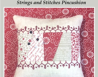 Pin Cushion pattern Strings and Stitches