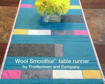 Modern table runner pattern - Wool Smoothie