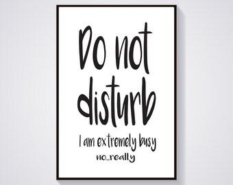 Do Not Disturb Art Etsy