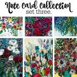 NEW Floral Note Card Set #3 - Artwork by Kate Deutsch