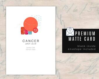 CANCER/ZODIAC Birthday Card - Blank Inside