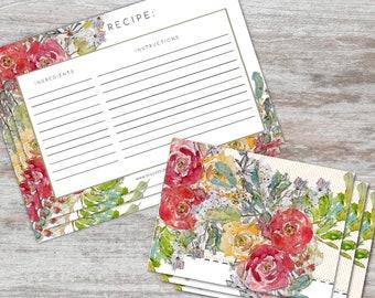 RECIPE & NOTE CARD Gift Set - Set of 6
