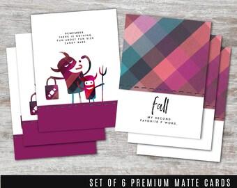 FALL/HALLOWEEN 6 pc Card Set