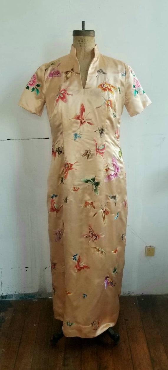 Handmade silk Qipao style dress