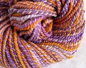 Hand Spun Merino Wool  - A  Monarch in the Heather - 102 yds
