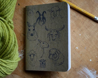 """Sheepish Notebook 3.5"""" x 5"""" 32 blank pages, set of 2"""