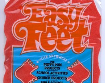 Vintage / Easy Feet / 12 Pressure Sensitive Foot Pads / Warm Fuzzies