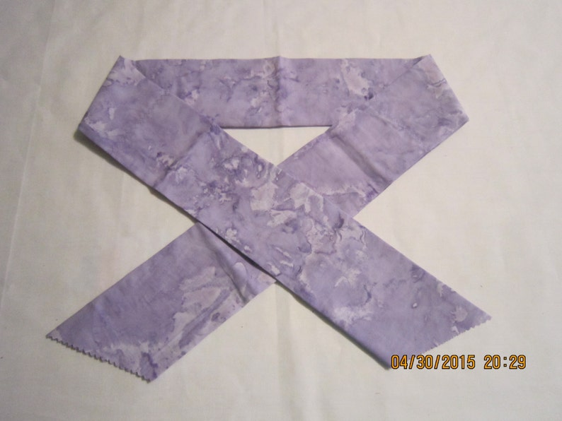 Extra Wide 3 Reusable Non-Toxic Cool Wrap  Neck Cooler Tones and Marbled Lavender