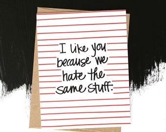I Like You - Card