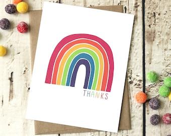 Rainbow - Thank You Card
