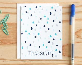 So, so sorry - Greeting Card