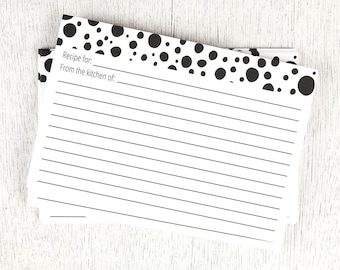 Black Spot Recipe Cards