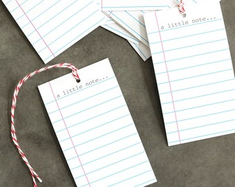 A Little Note (Tags) - set of 12