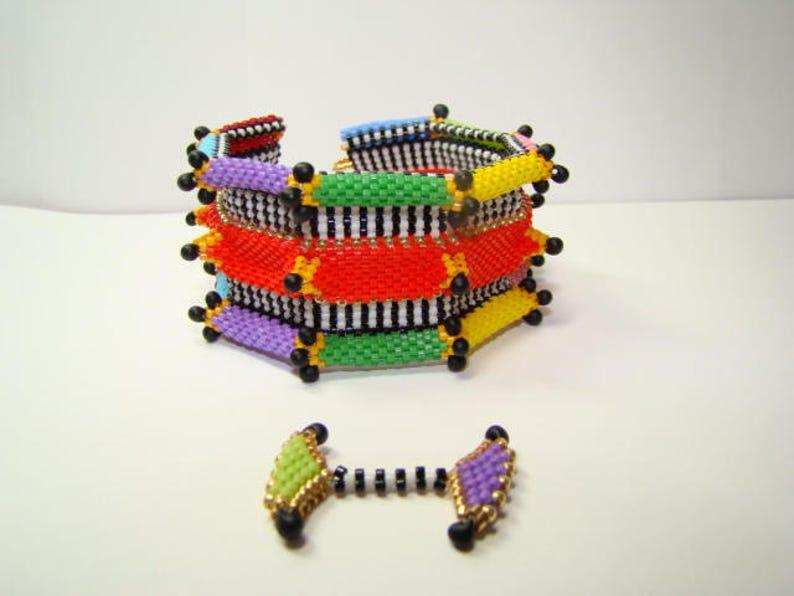 Circus Peyote Beaded Bracelet