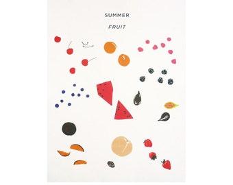 Summer Fruit Lithograph