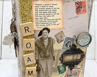 ROAM Travel Vacation Adventure Junk Journal Planner Organizer Smash Book Scrapbook Mini Album  2 Ring Binder
