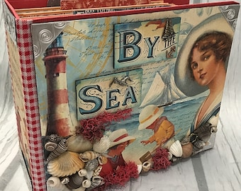 BY THE SEA All Occasion Scrapbook Scrapbooking Chipboard Mini Album