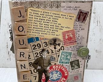JOURNEY Travel Vacation Adventure Junk Journal Planner Organizer Smash Book Scrapbook Mini Album  2 Ring Binder