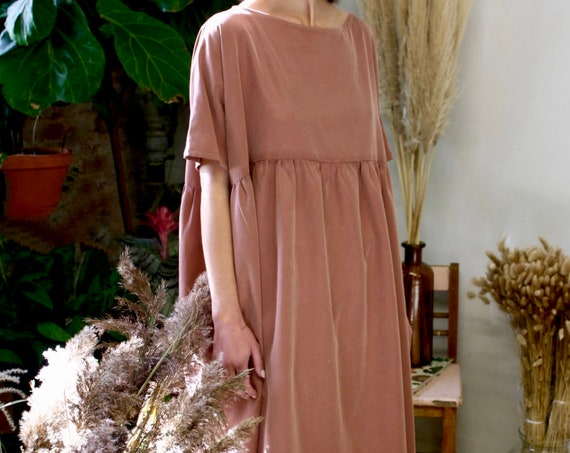 Dress Maternity Dress Eco Friendly Sustainable Plus Size Clothing Bridesmaid Rust Dress Smock Dress Long Midi Dress Black Dress Long Sleeve
