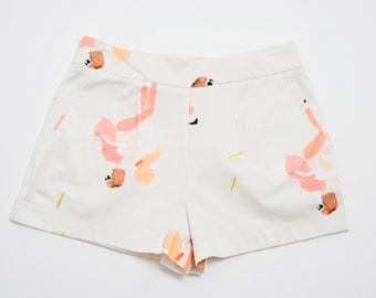 SALE Girls Illustration Cotton Shorts. Holiday, Cocktail Shorts. Fun Spring Fashion. Vivi Shorts SS16