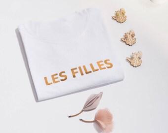 Girls T-Shirt. Gold Foil Feminist T-Shirt. Feminist T-Shirt. Womens Feminist Shirt. Woman Feminist Fold Foil Words. Feminist Gift.