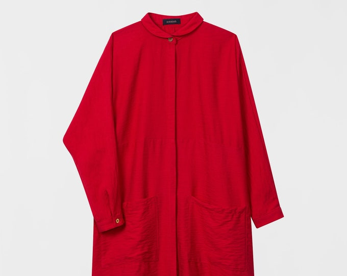 Featured listing image: Oversized Shirt Dress. Loose Maxi Minimal Shirt Dress. Fall Fashion Long Sleeved Women Shirt. Relax Oversized Boxy Dress. Anne Dress AW17