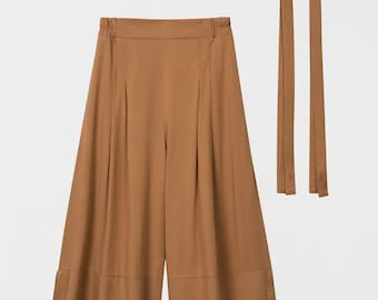 Wide Leg Cropped Pants. Party Palazzo. Loose Fitting Pants. Casual Pants. Lison Pants PE18