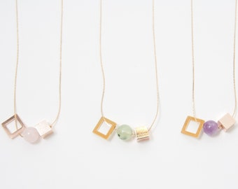 Pastel Minimal Necklace — 016