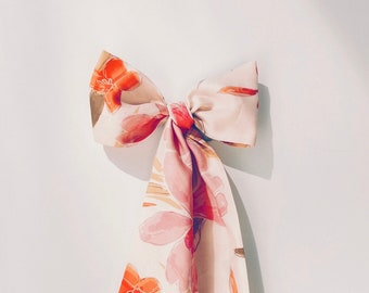 Unique Gift Floral Scarf Spring Fashion Accessory Hand Painted Fashion Square Scarf Printed Art Illustration Hand Dyed Illustration