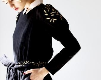 Embroidery Handmade Puffed Sleeves Women Shirt. Loose Shirt. Juliet Sleeve Blouse. Spring Top. Women's Shirt. Sleeve Top. Tara top