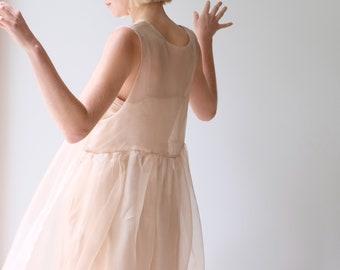 Sheer Dress Wedding Nude Sheer Dress Edgy Dress Romantic Dress
