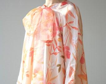 Printed Dress Eco Friendly Sustainable Art Illustration Unique Plus Size Clothing Bridesmaid Dress Smock Dress Long Sleeve