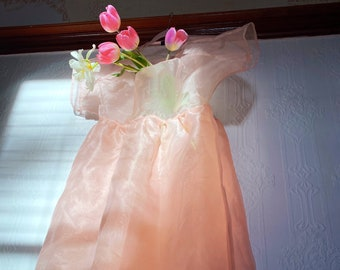 Blush Dress Sheer Summer Dress Wedding Pink Blush Wedding Dress edgy dress romantic dress Tulip Dress