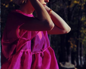 Sheer Dress Wedding Pink Wedding Dress edgy dress romantic dress Tulip Dress