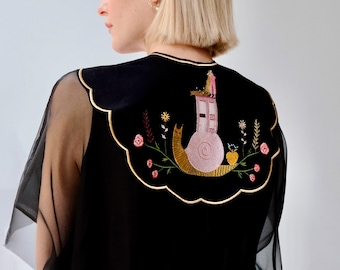 Detachable Collar Statement Collar Oversized Peter Pan Removable Collar Embroidered Collar Scalloped Super-Sized Collar Art Illustration