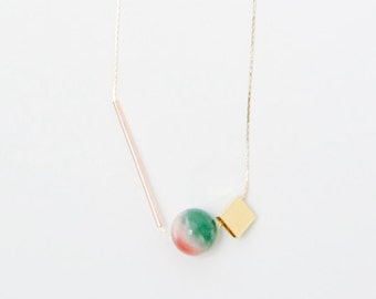 Watermelon Minimal Necklace — 017