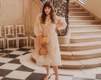 Blush Wedding Dress, Prom dress, Summer Wedding, Pink Wedding Dress, edgy wedding dress, romantic dress