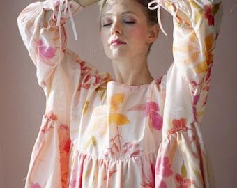 Printed Dress Eco Friendly Sustainable Art Illustration Unique Plus Size Clothing Bridesmaid Dress Smock Dress Dress Long Sleeve