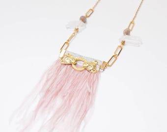 Statement Tiger Feather Necklace