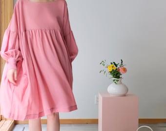 Eco Friendly Sustainable Dress Balloon Sleeve Dress Unique Plus Size Clothing Bridesmaid Dress Smock Dress Dress Long Sleeve