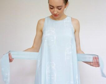 SALE Faces Print Lucie Dress