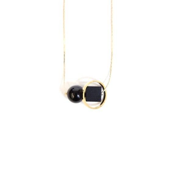 Onyx Minimal Necklace — 012