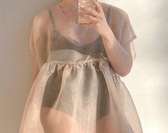 Loose Dress Romantic Custom Fairy Dress Wedding Pink Dress Bridesmaid Dress with Sleeves Evening Dress