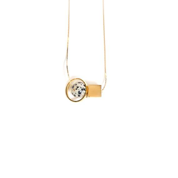 Jasper Minimal Necklace — 008