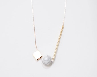 Marble Minimalist Necklace — 003
