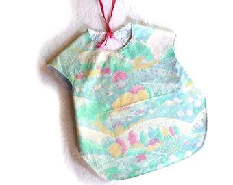 Baby shirt bib denim 6 - 24 months reversible