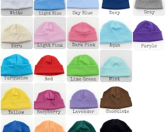 Yellow Beanie  Infant Hat  Grey Baby Cap  Personalized Embroidered Baby Hat 4c2a905cc2c
