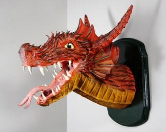 Fire Dragon Trophy Mount Sculpture