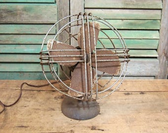 Vintage  Koldair Fan Primitive and Rusty untested sold as-found