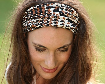 f0563588c78a Headbands for Women   Head Bands for Women   Stretchy Headband   Stretchy  Hairband   Leopard Headband   Leopard Animal Print Hairband